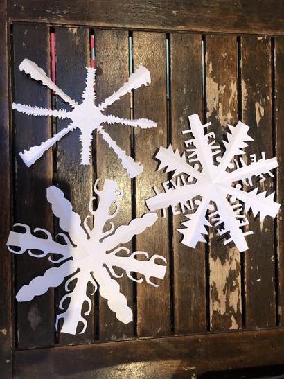 Levi's snowflakes