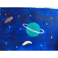 Harriet's painting is out of this world!