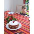 Felix made a cake