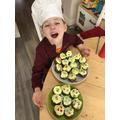 Levi made cakes