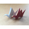 Olly's flying cranes.