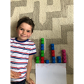 Alex made a pictogram of names in year 2