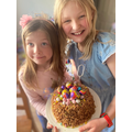 Poppy made this tasty rice crispy cake!