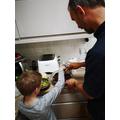 Jasper cooking brownies