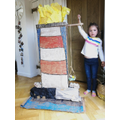 This is a tall lighthouse India! Oak class
