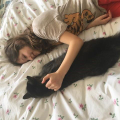 Robyn and her cat chilling out