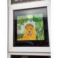 Mrs Simpson's lion