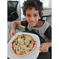 Khalid has made his own pizza for DT!