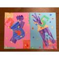 Gabriel's colourful Matisse cut outs.