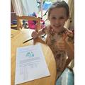 Molly enjoying maths