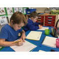 Bertie and Leo used the story to write sentences