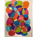 Lyla's colourful art