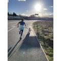 Lyla out running