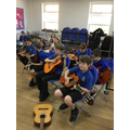 We had a great time learning new instruments in our first few sessions