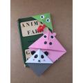 Olly's orgiami bookmarks