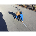 We enjoyed measuring the perimeter of our shadows in some outdoor maths