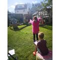 Freya has been working on her archery
