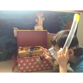 Theo exploring his teasure (Sycamore class)