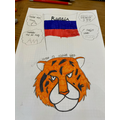 Mia's poster about books from Russia