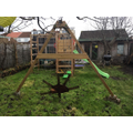 Alfie made a sculpture for his garden