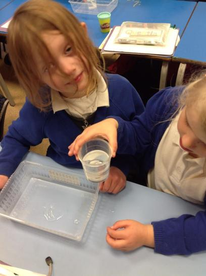Looking at what happens when we put salt in water