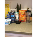 Sylvie used these ingredients to create a delicious smoothie.