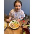 Evie's delicious ramen.