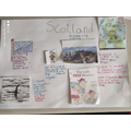 Giulia's poster about Scotland