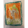 Bertie's excellent Picasso inspired portrait