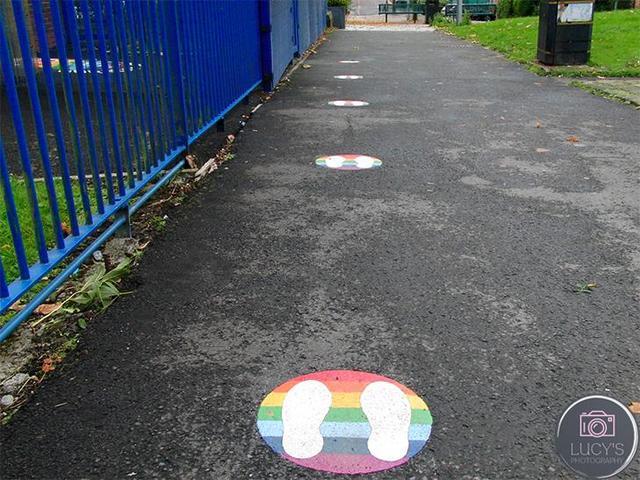 Rainbow 2m Footsteps