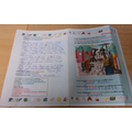 A letter & colouring that we received from Juliet
