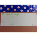 We wrote sentences about the Gigantosaurus after learning our 5 fast facts...