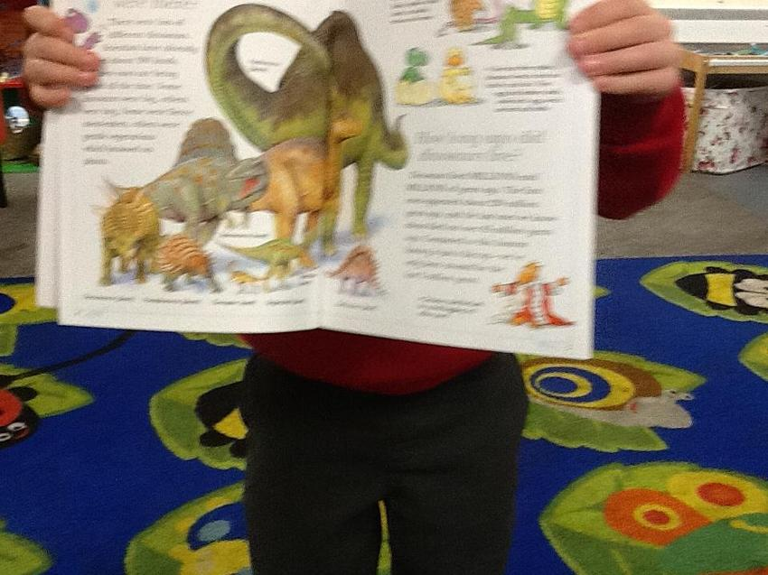 looking at non-fiction books to make a TV report