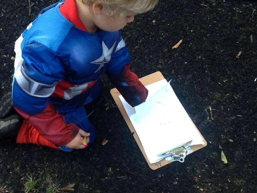 Making a map for our superheroes to help find people in trouble and save the day!