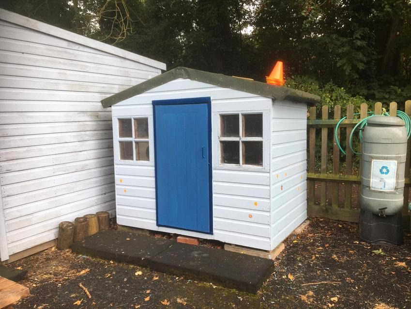 The playhouse in progress