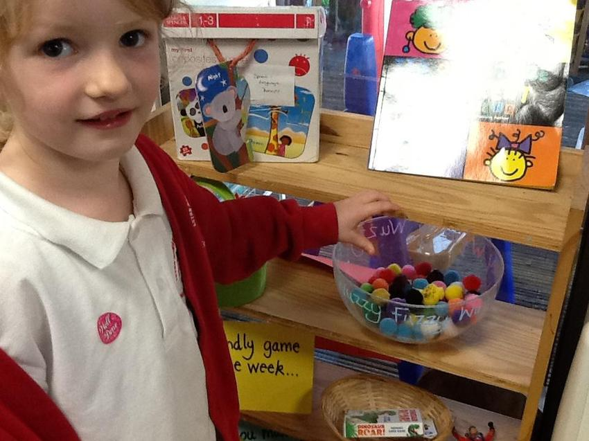 our fuzzy wuzzy tokens are given for friendly behaviour
