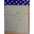 We checked our writing for finger spaces and full stops...