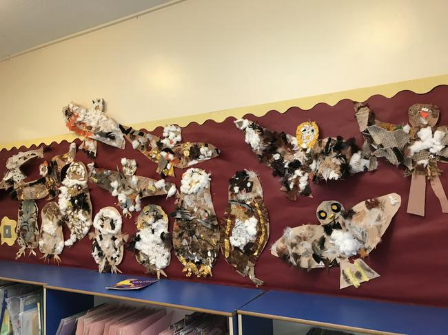 Owl collages by yr 2