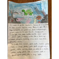 Aidan's beautiful writing and picture