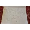 Ella's great christmas card writing