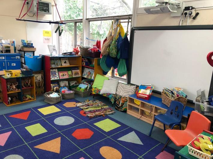 Our shared mat area to read and play together