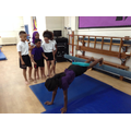 Practising our balance and counterbalance skills