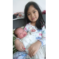 GiaNhi with her new babysister