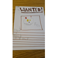 What a super wanted poster Ella!