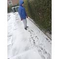 Alex in the snow