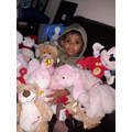 Baveen with his teddies