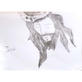 Erica's drawing of Jesus feeling betrayed