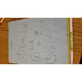 ella's writing the clock times- welldone