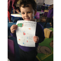 Look at my great list of what the caterpillar ate!
