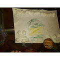 Kai's beautiful picture of his house in the snow